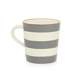 Home Collection - Grey and white striped mug