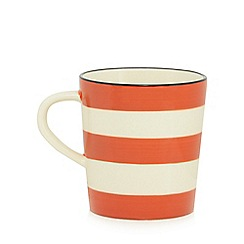 Home Collection - Burnt orange and cream striped mug