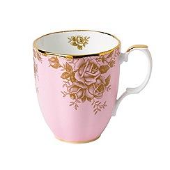 Royal Doulton - '100 Years Of Robert Albert 1960' golden rose print mug