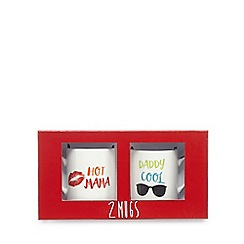 Ben de Lisi Home - Set of two assorted slogan print mugs