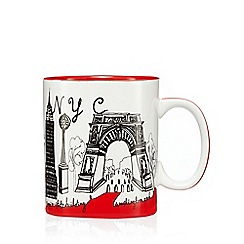 Ben de Lisi Home - Red New York print mug