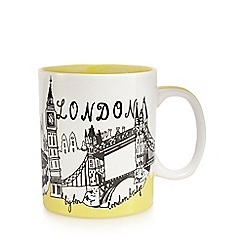 Ben de Lisi Home - Yellow London print mug
