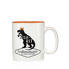 Ben de Lisi Home - Orange 'Tea-Rex' print mug
