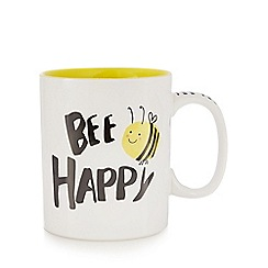 Ben de Lisi Home - Yellow 'Bee Happy' print mug