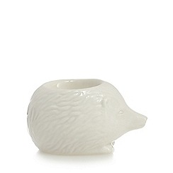 At home with Ashley Thomas - White hedgehog shaped egg cup