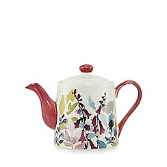 At home with Ashley Thomas - Multi-coloured floral stoneware bloom tea pot
