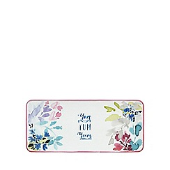 At home with Ashley Thomas - Multi-coloured porcelain floral print bloom sandwich tray