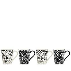 Ben de Lisi Home - Pack of four monochrome espresso cups