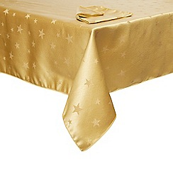 Home Collection - Gold star tablecloth and napkin set