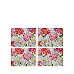 Home Collection - Pack of eight multicoloured floral print place mat and coaster set