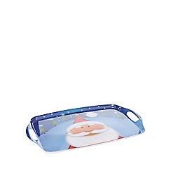 Home Collection - Blue Santa tray