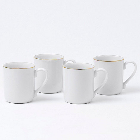 Royal Doulton - Set of four bone china 'Simply Gold' mugs