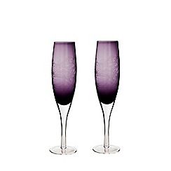 Denby - 2 piece 'Cosmic' champagne flute glass set