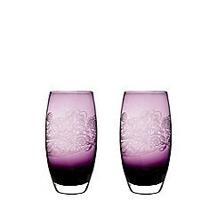 Denby - 2 piece 'Cosmic' large tumbler glass set