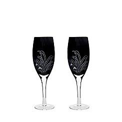 Denby - 2 piece ''Monsoon Chrysanthemum' white wine glasses