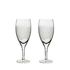 Denby - Set of 2 'Filigree' red wine glasses