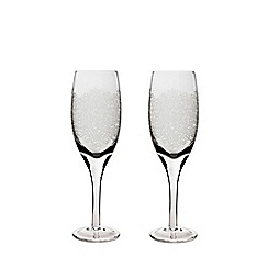 Denby - Set of 2 'Filigree' white wine glasses
