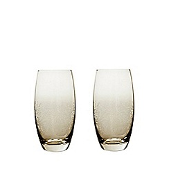 Denby - 2 piece 'Lucille Gold' large tumbler glass set