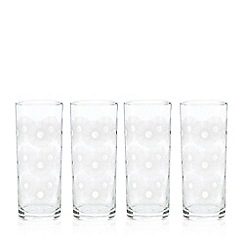 Home Collection Basics - Set of four printed hiball glasses