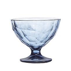 Home Collection - Blue geometric glass sundae dish