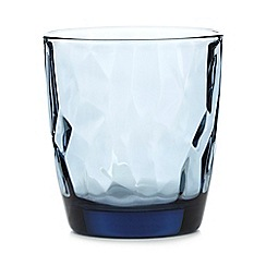 Home Collection - Blue geometric tumbler glass