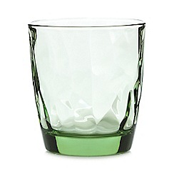 Home Collection - Green geometric tumbler glass