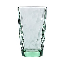Home Collection - Green geometric hi ball glass