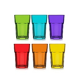 Istyle - Set of 6 'Aras' rock hi-ball glasses