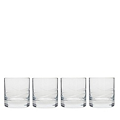 Denby - Set of four small 'Wave' tumbler glasses