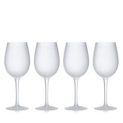Home Collection - Set of four white frosted wine glasses