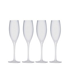 Home Collection - White set of four flutes