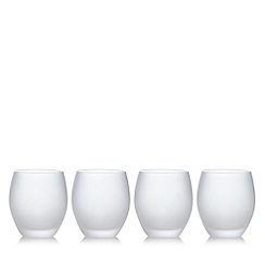 Home Collection - Set of four white frosted tumbler glasses