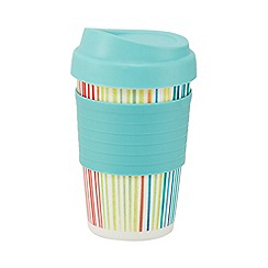 Creative Tops - Light blue striped print flask