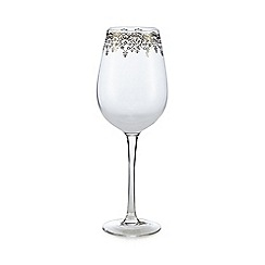 Star by Julien Macdonald - Lace foil trim wine glass