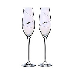 Star by Julien Macdonald - Set of two swarovski crystal lustre champagne flutes