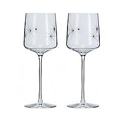 Star by Julien Macdonald - Set of 2 Swarovski crystal wine glasses