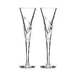 Home Collection - Set of two glass 'Beatrice' toasting flutes