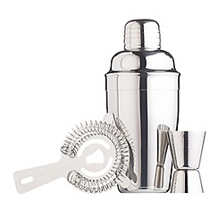 Barcraft - Stainless steel 3 piece cocktail set