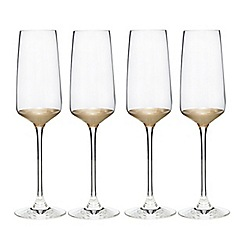 Home Collection - Set of four gold based flutes