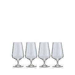 J by Jasper Conran - Set of 4 'Calvello' beer glasses