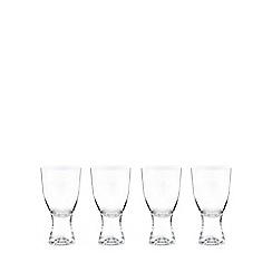 J by Jasper Conran - Set of four crystal 'Edbury' wine glasses