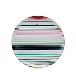 Ben de Lisi Home - Pale blue striped print round tray