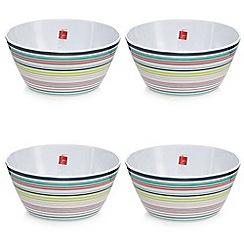Ben de Lisi Home - Set of four striped cereal bowls