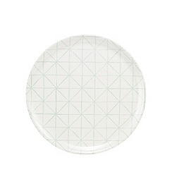 Debenhams - White geometric print tray
