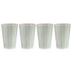 Debenhams - Set of four pale green tumblers