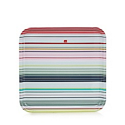 Ben de Lisi Home - Pale blue striped print square tray