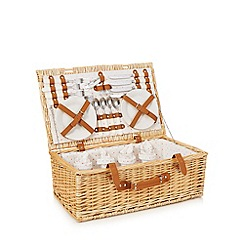 At home with Ashley Thomas - Four person wicker picnic hamper