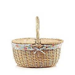 At home with Ashley Thomas - Ditsy print lidded picnic basket