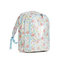At home with Ashley Thomas - Multi-coloured ditsy print picnic backpack