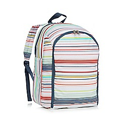 Ben de Lisi Home - Multi-coloured striped print picnic backpack
